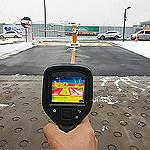 サーモグラフィカメラを活用した地下融雪装置の保守点検