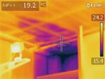 サーモグラフィカメラを雨漏りの特定、補修後の確認に活用